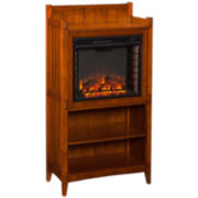 Larry Electric Fireplace Cabinet Tower
