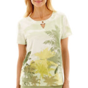 Alfred Dunner® Key Largo Palm Tree Top