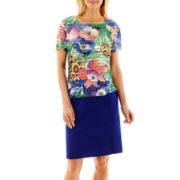 Alfred Dunner® Catalina Island Tropical Ruffle Top or Skort
