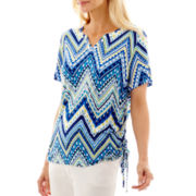 Alfred Dunner® Catalina Island Short-Sleeve Zigzag Top