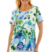 Alfred Dunner® Catalina Island Parrot Tropical Top