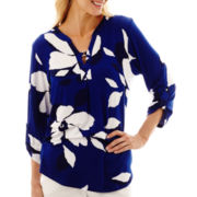Alfred Dunner® Catalina Island Exploded Flower Top