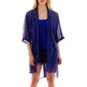 a.n.a® Short-Sleeve Kimono Duster - Tall