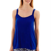 a.n.a® Crochet Lace Split-Hem Tank Top - Tall