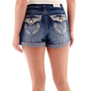 ZCO Embellished Pocket Denim Shorts - Plus