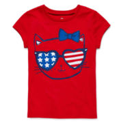 Okie Dokie® Americana Graphic Tee - Toddler Girls 2t-5t