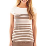 Liz Claiborne® Short-Sleeve Striped Tee