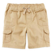 Arizona Solid Cargo Shorts – Boys 2t-5t