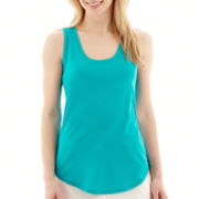 Stylus™ Ribbed-Trim Tank Top