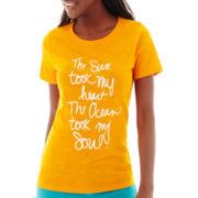 Stylus™ Short-Sleeve Slub Knit Graphic T-Shirt