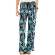 St. John's Bay® Print Woven Palazzo Soft Pants