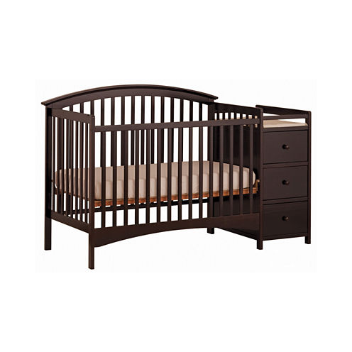 Storkcraft Bradford 4-in-1 Convertible Crib and Changer-Espresso