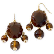 Liz Claiborne Brown Stone Chandelier Earrings