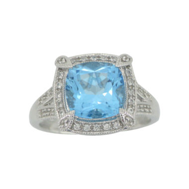 jcpenney.com | Cushion-Cut Blue Topaz & Lab-Created White Sapphire Ring
