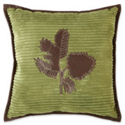 Scene Weaver™ Pinecone Channeled Fleece Pillow