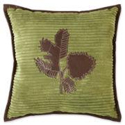 Scene Weaver™ Pinecone Channeled Fleece Decorative Pillow