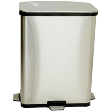 jcpenney.com | iTouchless® 13-Gal. Stainless Steel Step-Sensor Trash Can