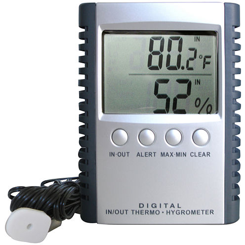 Epicureanist™ Thermohygro Wine Temperature/Humidity Gauge