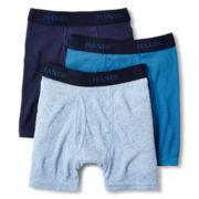 Hanes® 3-pk. Dyed Boxer Briefs - Boys 6-20
