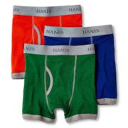 Hanes® 3-pk. Ringer Boxer Briefs - Boys 6-20