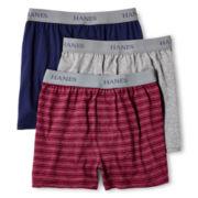 Hanes® 3-pk. Knit Boxers - Boys 6-20