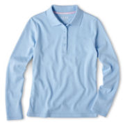 IZOD® Long-Sleeve Polo Shirt - Girls 4-18 and Girls Plus