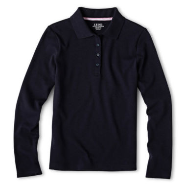 jcpenney.com | IZOD® Long-Sleeve Polo Shirt - Girls 4-18