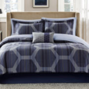Madison Park Pierce 7-pc. Twin Complete Bedding Set with Sheets