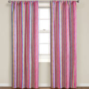 Eclipse® Kids Playtime Stripe Rod-Pocket Thermal Blackout Curtain Panel