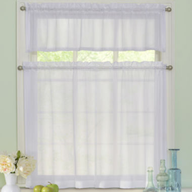 jcpenney.com | Arm & Hammer Curtain Fresh Odor-Neutralizing Rod-Pocket Window Tiers & Valance Set