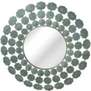 Round Flower Wall Mirror