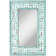 Distressed Turquoise Wall Mirror