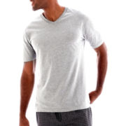 Stafford® Cotton Color V-Neck T-Shirt