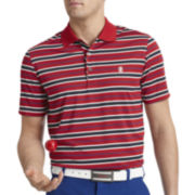 IZOD® Golf Feeder-Striped Jersey Polo