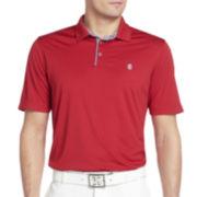 IZOD® Golf Striped-Trim Polo