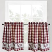 Park B. Smith Provencial Rooster 2-Pack Rod-Pocket Window Tiers