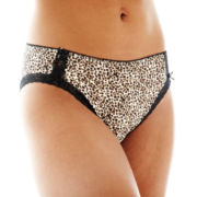 Ambrielle® Natural Comfort Lace-Trim High-Cut Panties