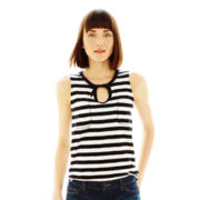 Joe Fresh™ Striped Drawstring Pocket Tank Top