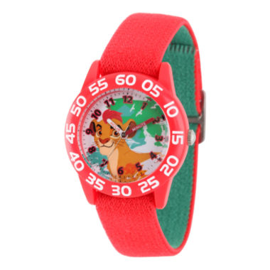 jcpenney.com | Disney Collection Lion Guard Boys Red Plastic Numbered Bezel Nylon Strap Watch