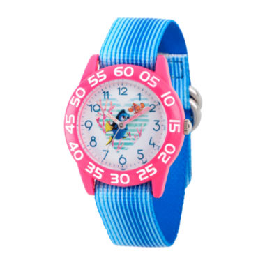 jcpenney.com | Disney Collection Girls Blue & Pink Numbered Bezel Finding Dory Strap Watch
