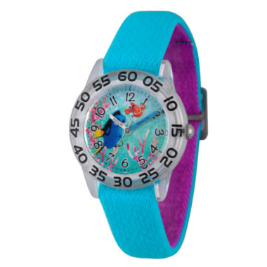 jcpenney.com | Disney Collection Girls Blue & Silver-Tone Numbered Bezel Finding Dory Watch
