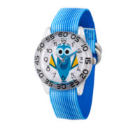 Disney Collection Girls Blue & Silver-Tone Numbered Bezel Finding Dory Watch