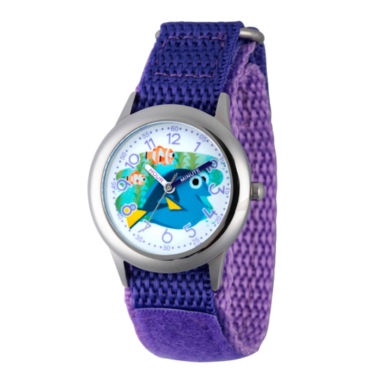jcpenney.com | Disney Collection Girls Purple & Silver-Tone Finding Dory Strap Watch