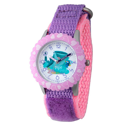 Disney Collection Girls Purple Heart Bezel Finding Dory Strap Watch
