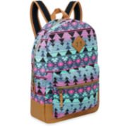 A.D. Sutton Cotton Print Backpack