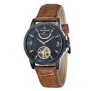 Thomas Earnshaw Mens  Brown And Black Flinders Leather Strap Watch Es-8014-08