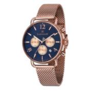 Thomas Earnshaw Mens  Investigator Rose Gold Tone Bracelet Watch Es-8001-55