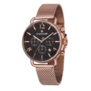 Thomas Earnshaw Mens  Investigator Rose Gold Tone And Black Bracelet Watch Es-8001-66