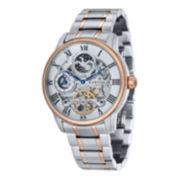 Thomas Earnshaw Mens  Longitude Two Tone And Rose Gold Tone Bracelet Watch Es-8006-33