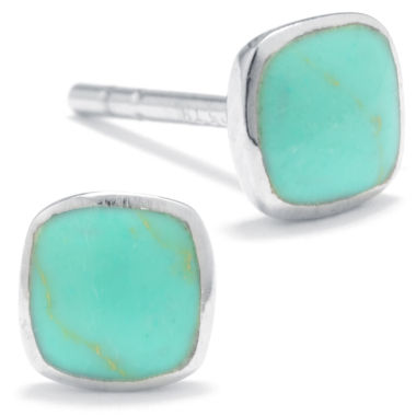jcpenney.com | Silver Treasures Blue Stud Earrings